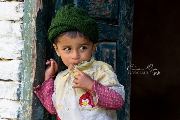 Foto eines Kindes in Nepal