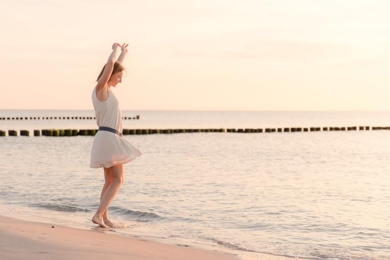 Fotoshootings am Strand der Ostsee, Strandfotos in Warnemünde und auf dem Darß
