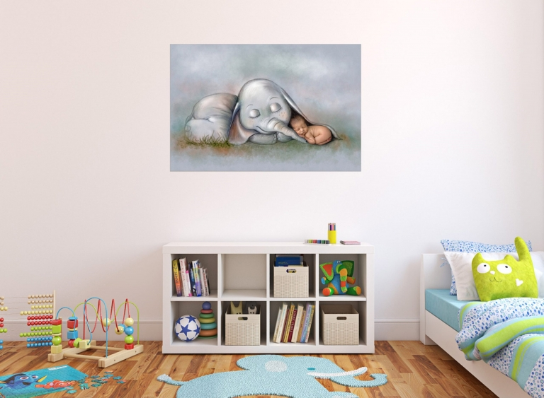Wandbilder vom Fotoshooting mit neugeborenen Baby, Babyfotos und Familienfotos für Berlin und Potsdam