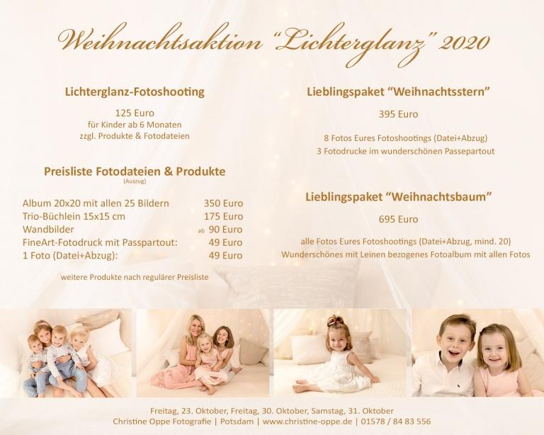 Lichterglanz Fotoshooting Weihnachten - Kinderfotos und Familienfotos für Berlin und Potsdam